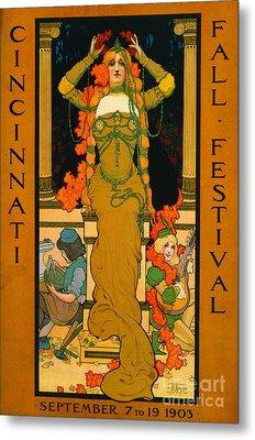 Cincinnati Fall Festival 1903 Metal Print by Padre Art