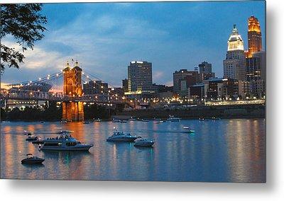 Cincinnati River Front Metal Print by John Mullins