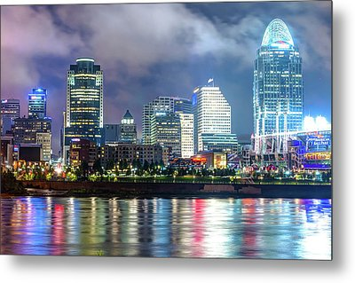 Metal Print featuring the photograph Cincinnati Skyline And The Great American Ballpark by Gregory Ballos