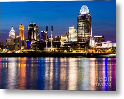 Cincinnati Skyline At Night  Metal Print by Paul Velgos