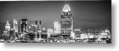 Cincinnati Skyline Panorama Picture Metal Print by Paul Velgos
