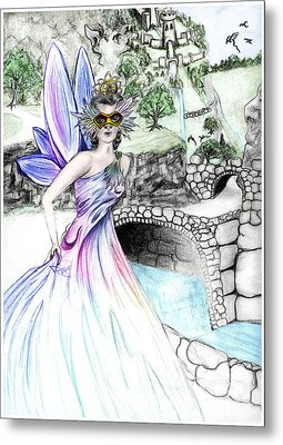 Fairytales Of Dragon Pass Castle, Costume Balls And Cinderella Metal Print by Janice Moore
