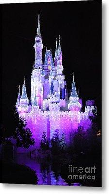 Cinderella's Holiday Castle Metal Print