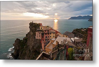 Cinque Terre Tranquility Metal Print by Mike Reid