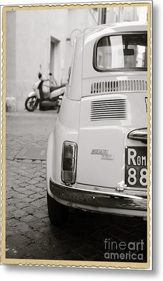 Cinquecento Black And White Metal Print by Stefano Senise