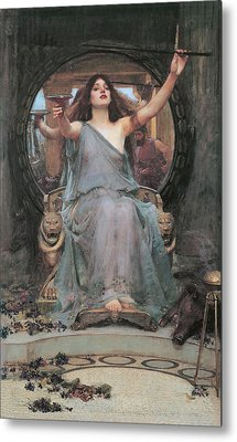 Circe Offering The Cup To Odysseus Metal Print by John William Waterhouse