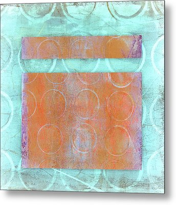 Circles And Rectangles Abstract  Metal Print by Carol Leigh