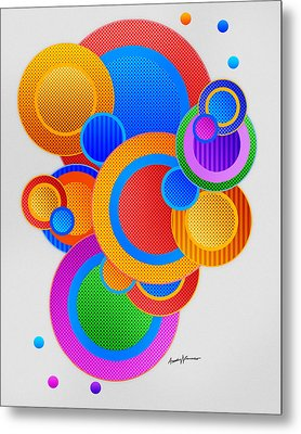 Circles Metal Print by Anthony Caruso
