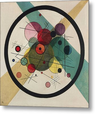 Circles In A Circle Metal Print by Wassily Kandinsky