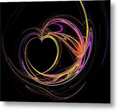 Circles Of Love Metal Print by Mary Morawska