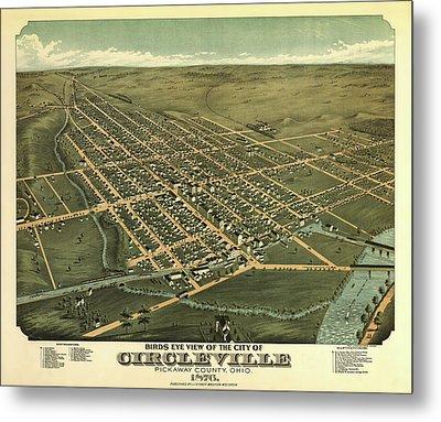 Circleville Ohio 1876 Metal Print