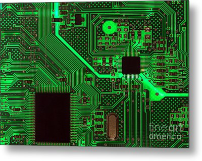 Circuitry Metal Print by Olivier Le Queinec
