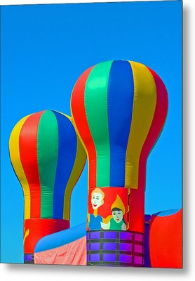 Circus In The Sky - Three Metal Print by Allan  Hughes