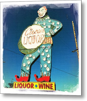 Circus Liquor Metal Print by Nina Prommer