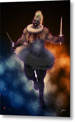 Circus Of Horrors - Cannibal Clown Metal Print