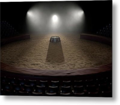 Circus Ring And Podium  Metal Print by Allan Swart