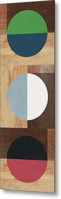 Cirkel Trio- Art By Linda Woods Metal Print
