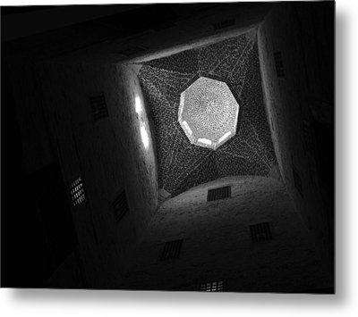 Metal Print featuring the photograph Citadel Dome Of Alex Bw by Donna Corless