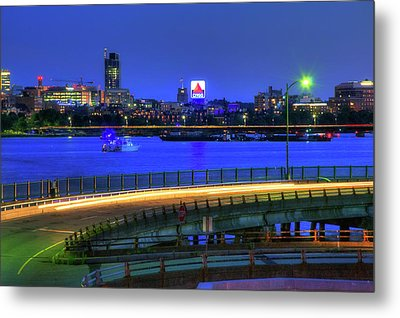Citgo Sign Across The Charles River - Boston Metal Print