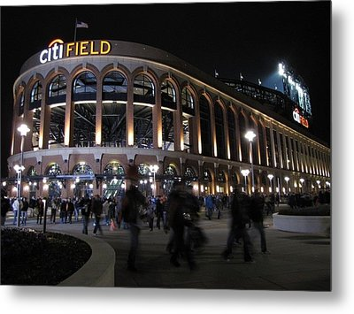 Citi Field Opening Night 2009 Metal Print by Peter Aiello