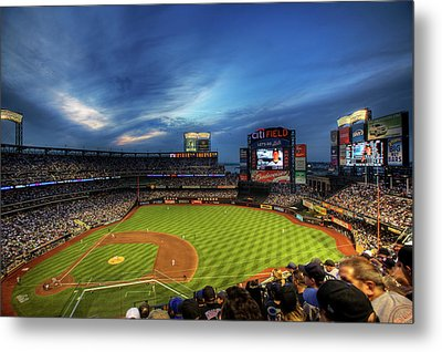 Citi Field Twilight Metal Print by Shawn Everhart