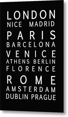 Cities Of Europe Metal Print by Georgia Fowler