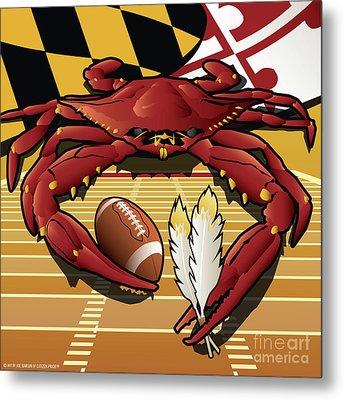 Citizen Crab Redskin, Maryland Crab Celebrating Washington Redskins Football Metal Print