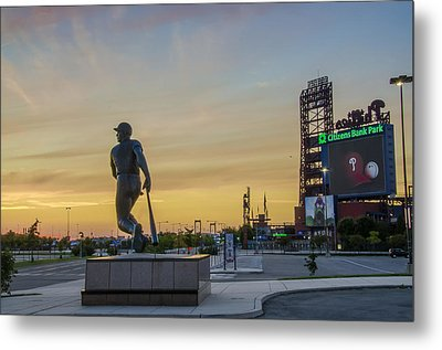 Citizens Bank Park Sunrise Metal Print