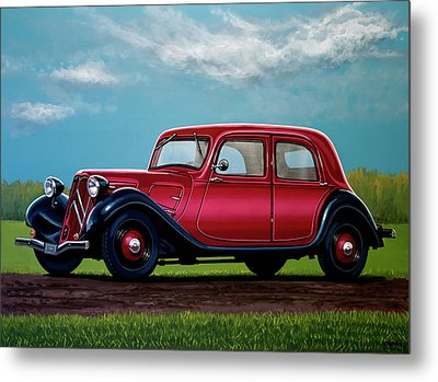 Citroen Traction Avant 1934 Painting Metal Print by Paul Meijering