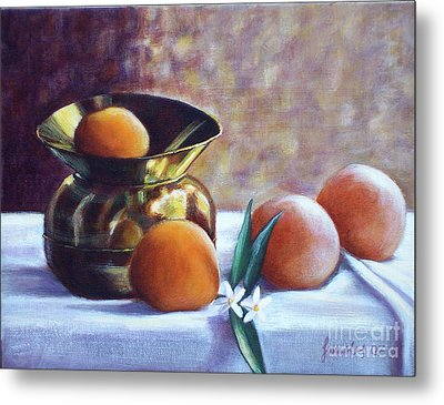 Citrus And Copper Metal Print by Sonsoles Shack