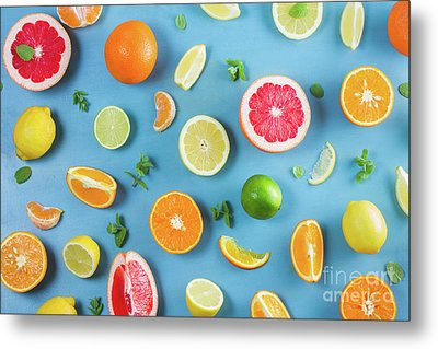 Citrus Summer Metal Print