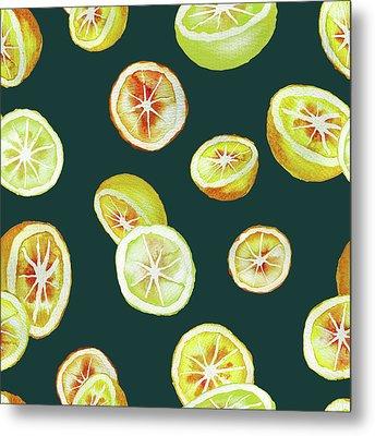 Citrus Metal Print by Varpu Kronholm