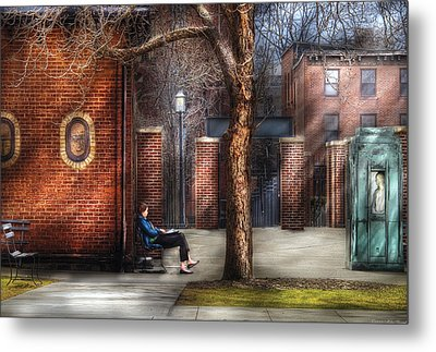 City - Newark Nj - Always Waiting  Metal Print by Mike Savad