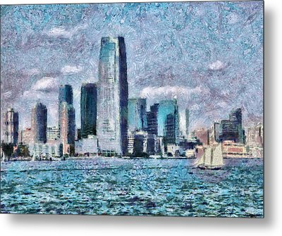 City - Ny - City Of The Future Metal Print by Mike Savad