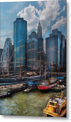 City - Ny - The New City Metal Print by Mike Savad