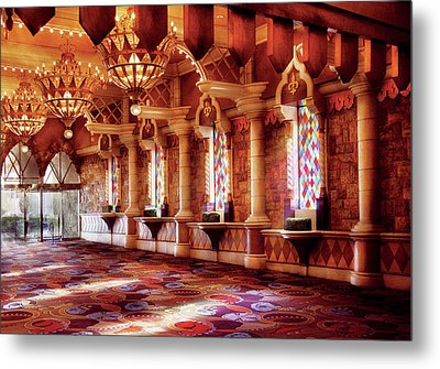 City - Vegas - Excalibur - In The Great Hall  Metal Print by Mike Savad