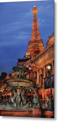City - Vegas - Paris - Academie Nationale - Panorama Metal Print by Mike Savad