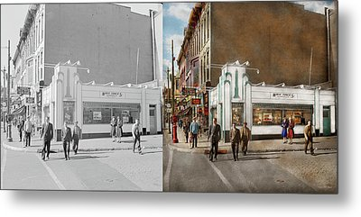 City - Amsterdam Ny - Hamburgers 5 Cents 1941- Side By Side Metal Print