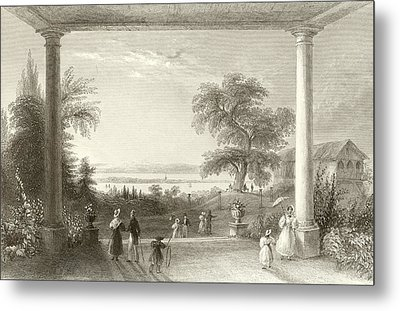 City And Lake Of Constance From The Chateau Wolfsberg Metal Print
