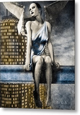 City Angel -2 Metal Print by Bob Orsillo
