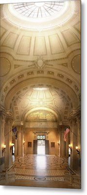 Metal Print featuring the photograph City - Annapolis Md - Bancroft Hall by Mike Savad