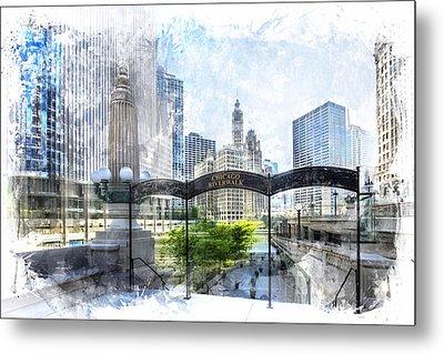 City-art Chicago Downtown I Metal Print by Melanie Viola