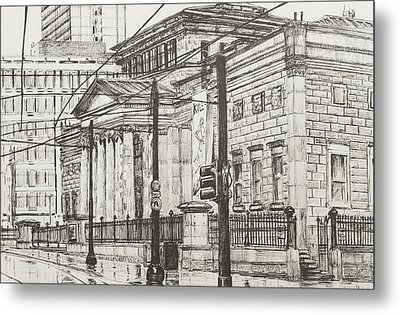 City Art Gallery Metal Print by Vincent Alexander Booth