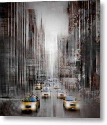 City-art Nyc 5th Avenue Traffic Metal Print