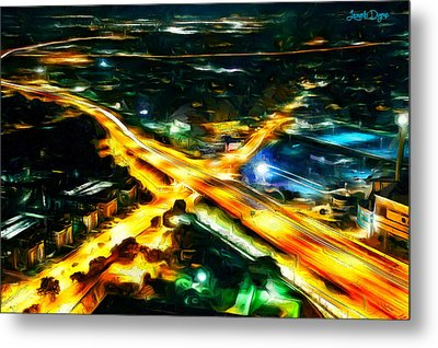 City Artery - Da Metal Print