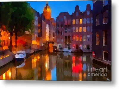 City Block 900 Soft And Dreamy In Thick Paint Metal Print by Catherine Lott