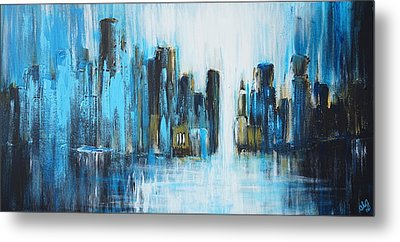 City Blues Metal Print by Theresa Marie Johnson