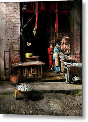 City - California - Fish Alley Smells Fowl 1886 Metal Print by Mike Savad