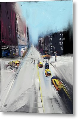 City Contrast Metal Print by Russell Pierce