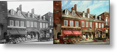 City - Easton Md - A Slice Of American Life 1936 - Side By Side Metal Print